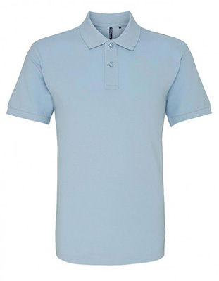 Asquith & Fox Men's Cotton Polo Shirt, Pale Blue