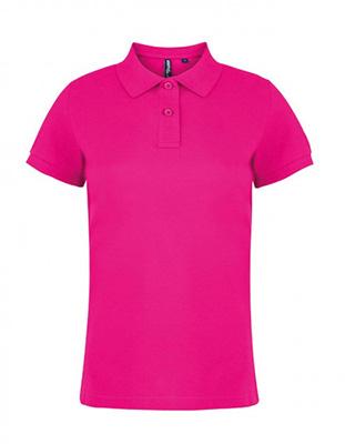 Asquith & Fox Women's Cotton Polo Shirt, Hot Pink