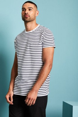 Breton Navy Striped T-Shirt, White/Navy