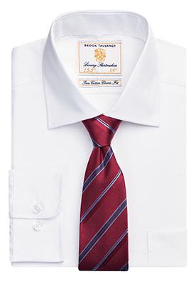 Cheadle Single Cuff Shirt Cotton Poplin White Poplin