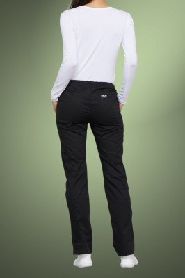 Cherokee Core Stretch Womens Mid Rise Straight Leg Drawstring Scrub Pants 4203, Black