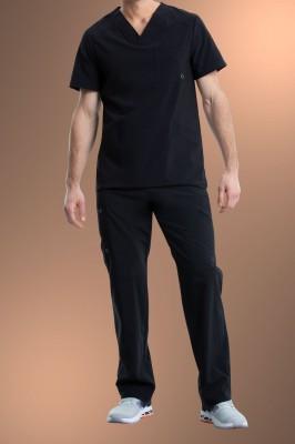 Cherokee Infinity Men's V-Neck Scrub Top CK900A, Black