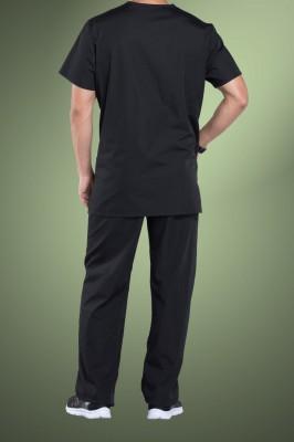 Cherokee Originals Unisex V-Neck Patch Pockets Scrub Top 4876, Black