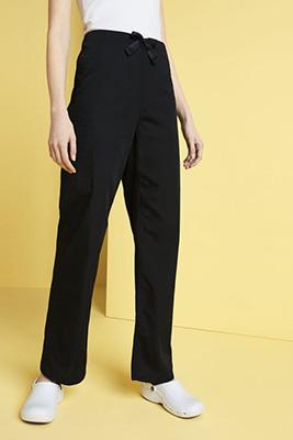 Cherokee Unisex Elasticated Waist Scrub Pants, Black