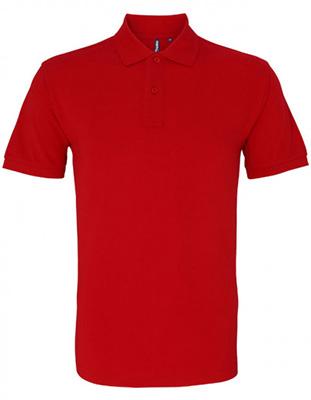 Asquith & Fox Men's Cotton Polo Shirt, Red