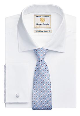 Chester Classic Fit Shirt Cotton Poplin White Poplin