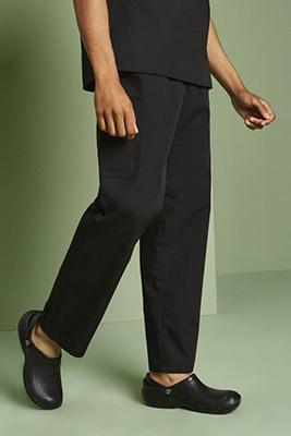 Dickies Unisex Tie Waist Scrub Pants, Black