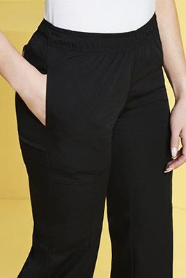 Dickies Women's Bootcut Scrub Pants, Black