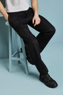 Men's Flat Front Pants, Black