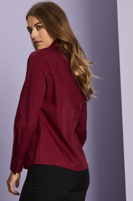 Long Sleeve Blouse, Cherry Red