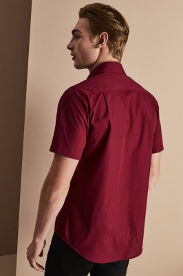 Men's Short Sleeve Shirt, Cherry Red