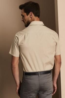 Men's Short Sleeve Shirt, Beige