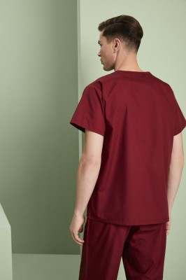 Lightweight Scrub Top unisexe, Bourgogne2