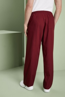 Unisex Lightweight Scrub Pants, Burgundy