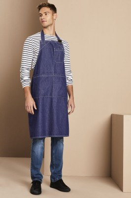 Tablier à bavette en denim épais, denim2