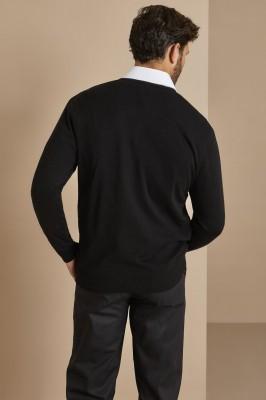 Men's V-neck Jumper, Black