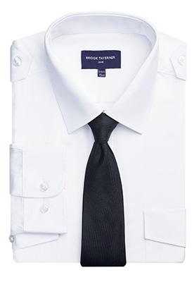 Hermes Classic Fit Pilot Shirt White