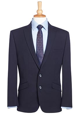 Holbeck Slim Fit Jacket Navy Plain