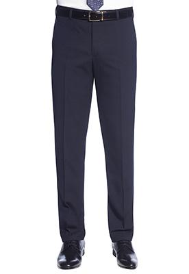 Holbeck Slim Fit Trouser Navy Plain
