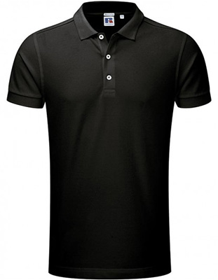 Russell Stretch Polo, Noir2