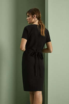 Robe en lin, noir2