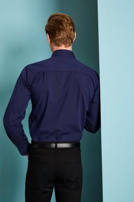 Long Sleeve Modern Fit Shirt, Navy