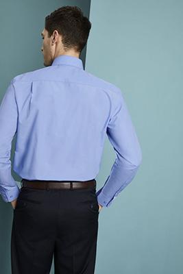 Long Sleeve Polycotton Business Shirt (Regular), Blue
