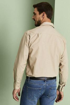 Men's Long Sleeve Shirt, Beige