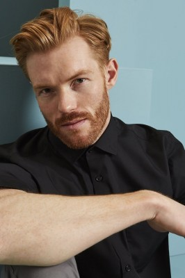Short Sleeve Regular Fit Shirt, Black