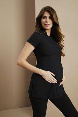 Tunique de maternité à un bouton, noir