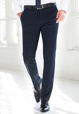 Pegasus Slim Fit Trouser Navy P/Dot