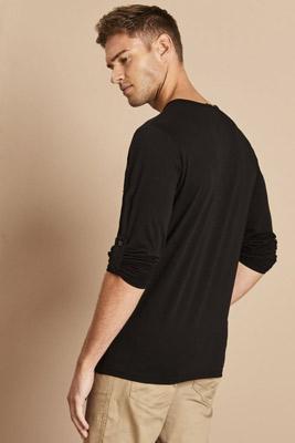 Premier Long John Roll-Sleeve T-shirt, Black