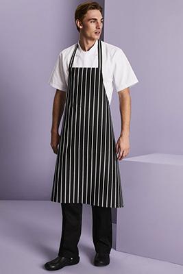 Premier Stripe Apron, Black/White Stripe