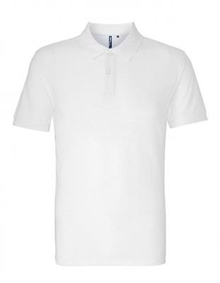 Asquith & Fox Men's Cotton Polo Shirt, White