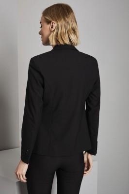 Qualitas Ladies Two Button Blazer, Black
