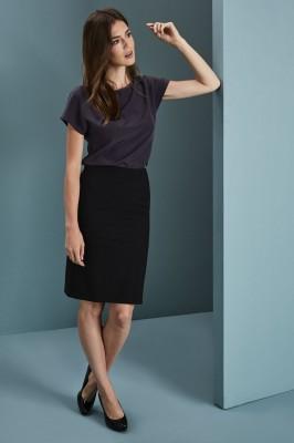 Qualitas Ladies Skirt, 23in, Black