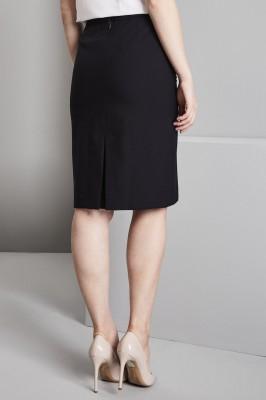 Qualitas Ladies Skirt, 25in, Dark Navy