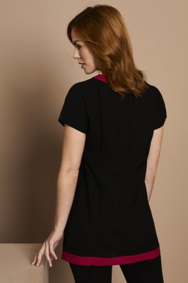 Select Retro Beauty Tunic, Black with Hot Pink Trim