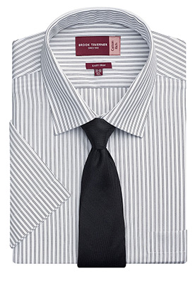 Roccella Classic Fit Shirt White/Grey Stripe