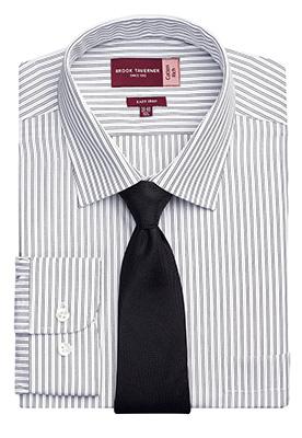 Rufina Classic Fit Shirt White/Grey Stripe