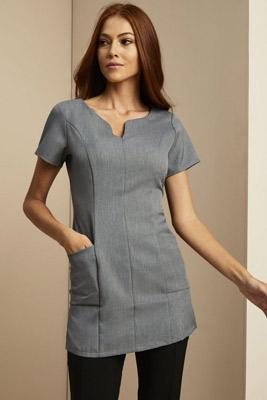 Tunique à poche latérale, gris
