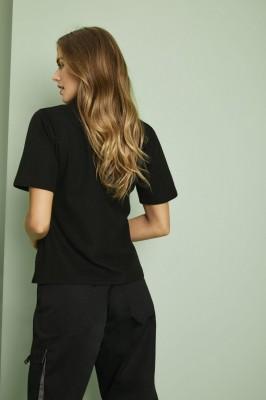 Uneek Ladies Polo Shirt, Black