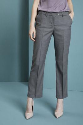 Pantalon droit contemporain pour femme (régulier), gris pâle