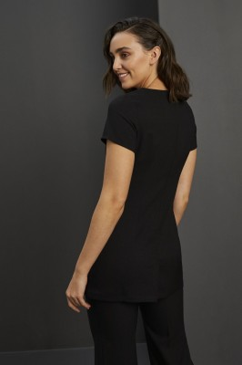 Contour Neckline Beauty Tunic, Black