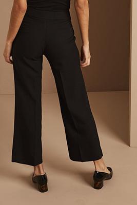 Cropped Pants, Long, Black