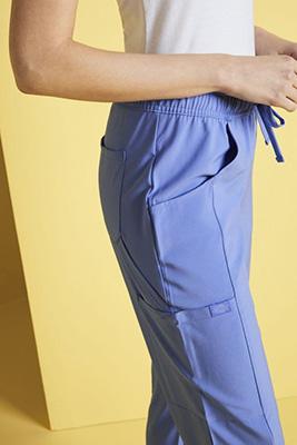 Dickies Women's Mid Rise Drawstring Scrub Pants, Ciel