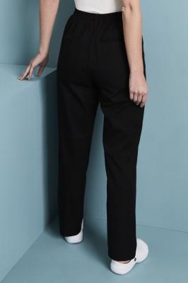 Ladies Flat Front Pants, Black
