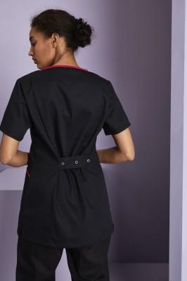 Tunique femme style Définitive, Noir et rose vif2