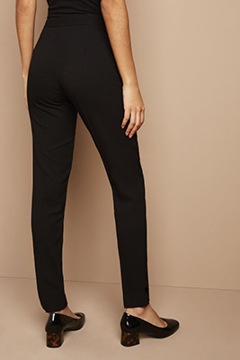 Slim Leg Pants, Short, Black
