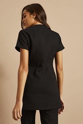Tunique zippée avec poches, noir2